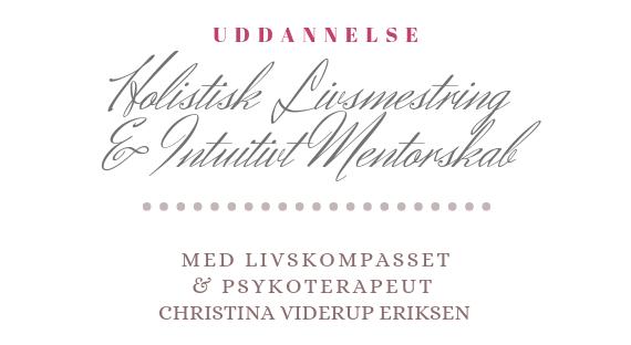 Den nye holistiske mentoruddannelse i Livsmestring og intuitivt mentorskab